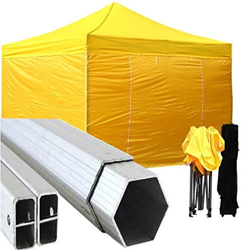GAZEBOPIEGHEVOLI.COM Telo Tetto Gazebo Pieghevole 3x3m Alluminio Rivestito Giallo PVC 3x3 Ricambio
