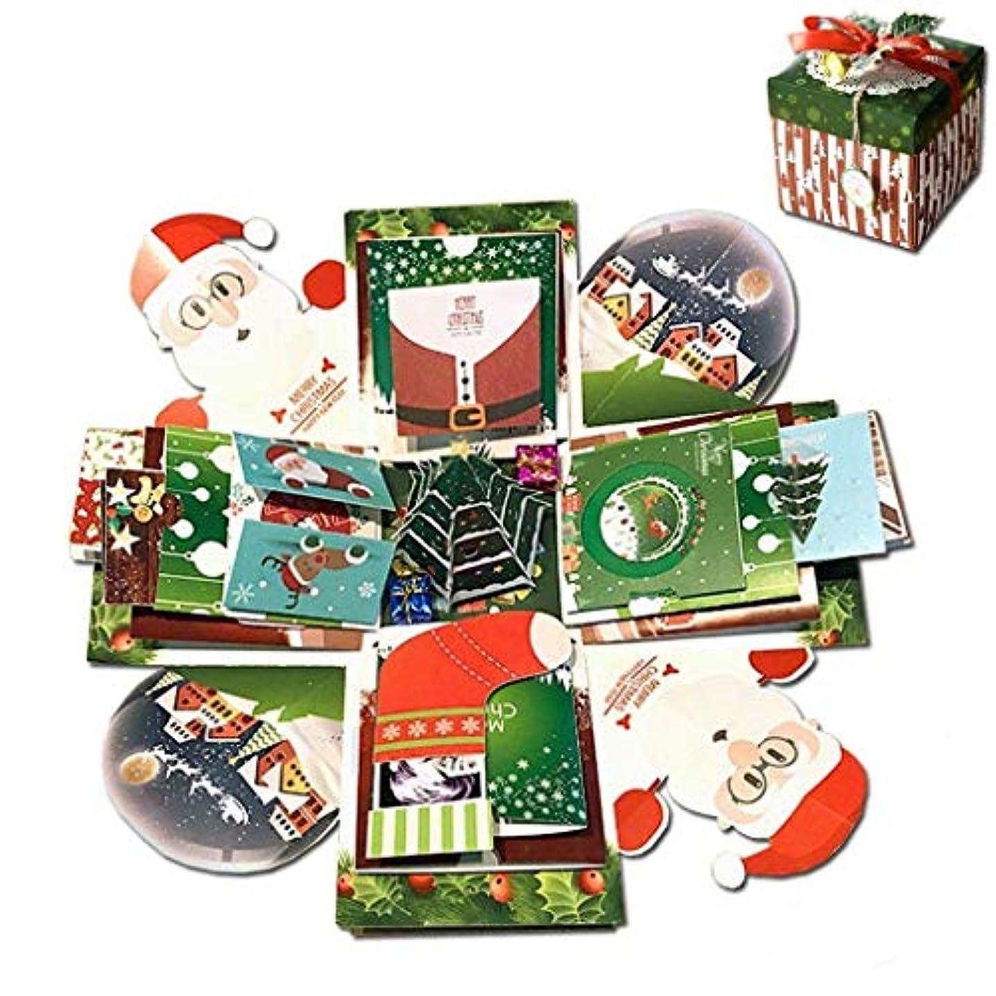 Seenew Creative Explosion Box DIY Handmade Photo Album Scrapbooking Gift Box for Christmas and Surprise Box 17''x17''