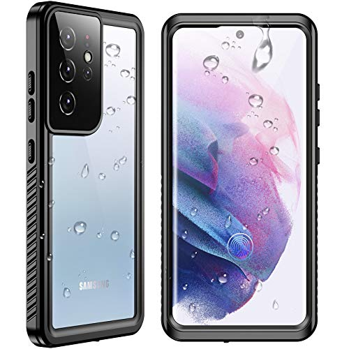 """SPIDERCASE Designed for Samsung Galaxy S21 Ultra Waterproof Case, Built-in Screen Protector Full Heavy Duty Protection Shockproof Anti-Scratched Rugged Cases for Samsung Galaxy S21 Ultra 6.8"""" 2021"""