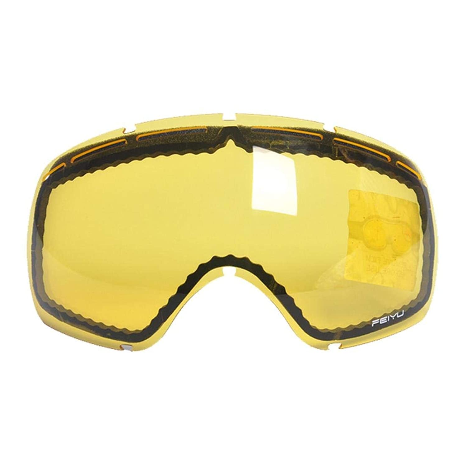 Exquisite Goggles Skiing Glasses Matching Glasses for Large Spherical Double Anti-Fog Glasses can be Card Myopia Men and Women Models (Color : Night/Yellow zengguang Tablets)