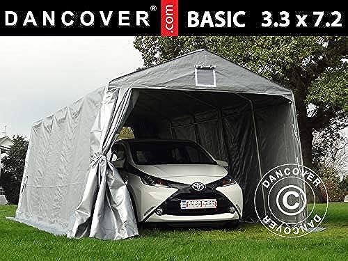 Dancover Zeltgarage Garagenzelt Basic 3,3x7,2x2,4m PE, grau