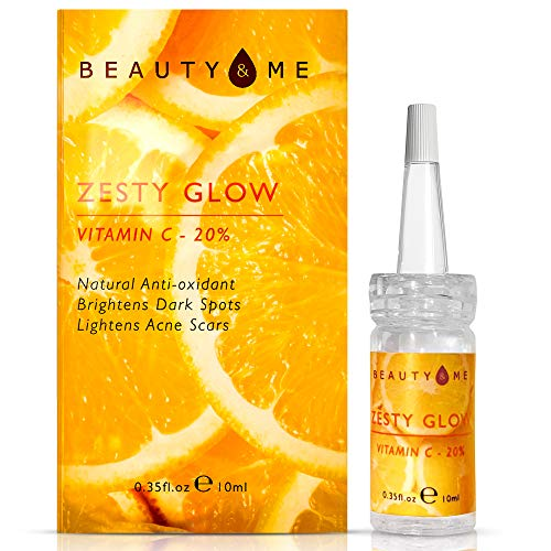 Zesty Glow 20% Vitamin C Serum for Face with Hyaluronic acid, Premium Face Serum and Face Oil for Anti-Aging, Anti-Wrinkle, Dark spots, Age Spots and Acne Scars I 10 ml
