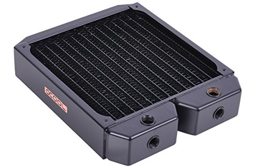Alphacool 14186 NexXxoS XT45 Full Copper Single Radiator - CPU Wasserkühlung - 180mm, Kupfer / Schwarz