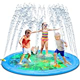 """PEFECEVE Splash Pad for Kids, 68"""" Outdoor Summer Sprinkler for Toddlers, Babies, and 1-12 Years Old Boys & Girls, Wading Splash & Sprinkler Water Toys for Fun Games, Party, and Play"""