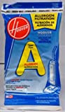hoover 4010001a - Hoover Filter Bags Type A Allergen Filtration 4010100A (3 Packs of 4) Total of 12 Bags