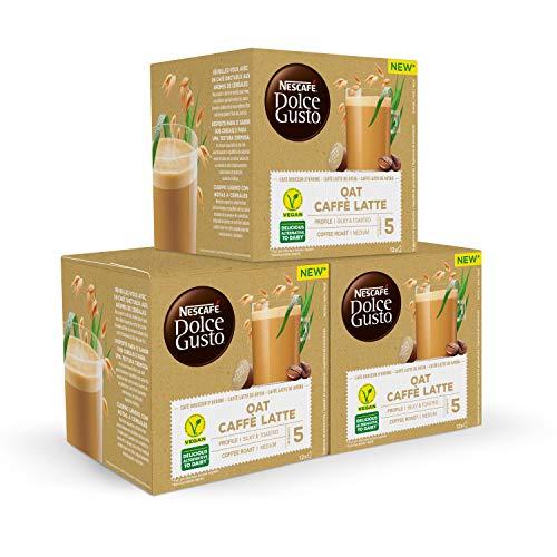 Nescafé DOLCE GUSTO Café AVENA LATTE - Pack De 3 x 12 cápsulas - Total: 36 Cápsulas