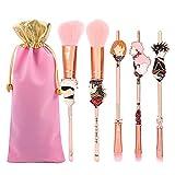 pennelli make up,professionale set di anime pennelli trucco 5 pezzi, jujutsu kaisen con manico metallo,sacchetto regalo di natale per donne e ragazze