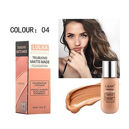 Base de Maquillaje, Base Líquida, Hidratante Líquido Base, Base de Maquillaje Cobertura Completa Nuevo, 24H Base de Maquillaje de Larga Duración