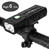 IPSXP Bicycle Headlight, USB Rechargeable 1000 Lumen LED Bike Front Light High Bright 6 Hours Mountain Road...