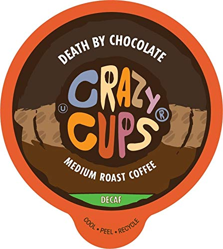 Crazy Cups Decaf Flavored Hot or Iced Coffee, for the Keurig K Cups 2.0 Brewers, Death By Chocolate, 22 Count…