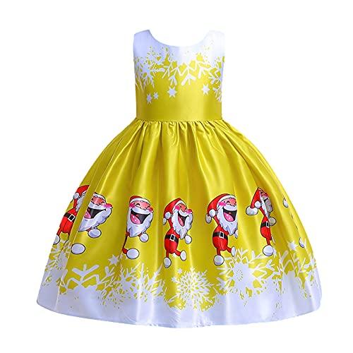 Weihnachtskleid Kinder Mädchen Weihnachtskostüm A Linie Tüllkleid Weihnachtskleid Prinzessin Weihnachtsmann Verkleiden Geburtstags Festzug Abendkleid Ballkleid für Weihnachten Karneval