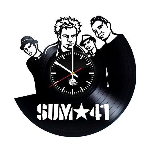 Sum 41 Handmade Vinyl Record Wall Clock Fun gift Vintage Unique Home decor