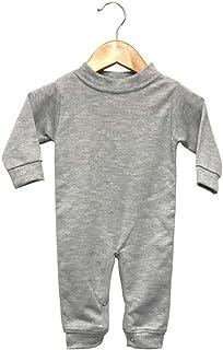 Laughing Giraffe Baby Infant Blank Long Sleeve Jumpsuit Romper Sleep 'N Play (12-18M, Heather Gray)