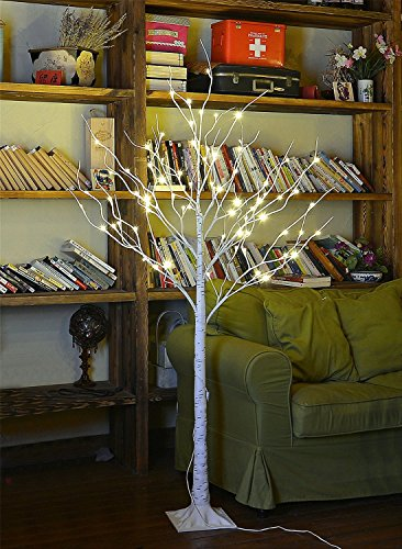 Lightshare Trade; New LED Birch Tree, 10L LED Icicle Twinkling(White/Blue) Decoration Light,Home/Festival/Party/Christmas,Indoor and Outdoor Use,