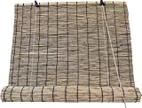 Estores de Bambú Cortina de Madera Natural | Persiana Enrollable para Ventanas (Bambú Beige, 120_x_200_cm)
