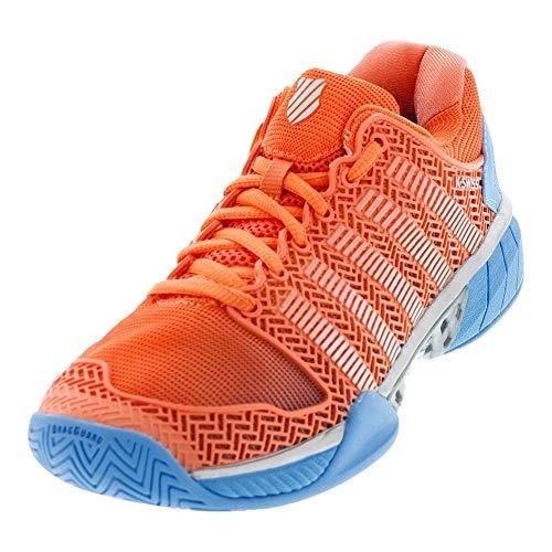 K-Swiss Women's Hypercourt Express Tennis Shoe (Fusion Coral/Bonnie Blue, 5)