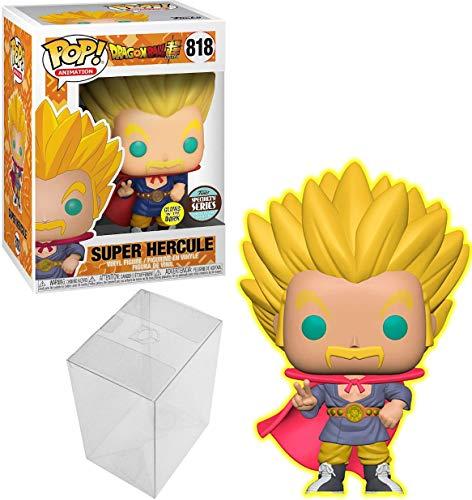 Funko POP Animation Dragon Ball Super Super Saiyan Hercule, Glow in The Dark Specialty Series Bundle with 1 PopShield Pop Box Protector