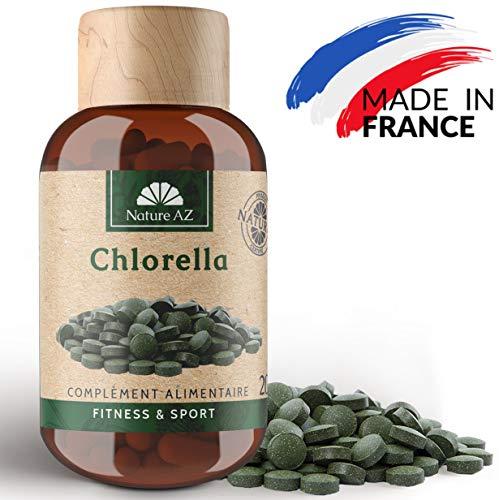 CHLORELLA 200 COMPRIMÉS DE 250MG - DÉTOXIFIANT ET ANTIFATIQUE - FABRIQUÉ EN FRANCE (200 capsules)