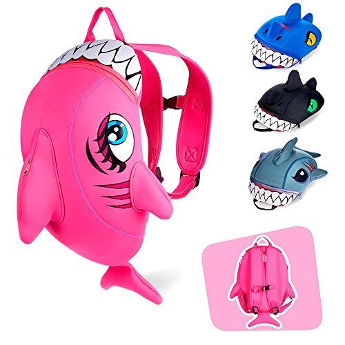 Crazy Safety | Mochila de Dinosaurio para niños. Ideal para la guardería, el Preescolar, el jardín de Infantes y para Viajes. Mochilas Divertidas con diseño de Dinosaurios y Tiburones | 33 cm