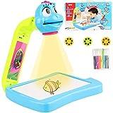Desire Sky - Proiettore da disegno per bambini con proiezione da tavolo e tavolo da disegno, per imparare a disegnare schizzi, kit di proiezione per disegni educativi per bambini e ragazze