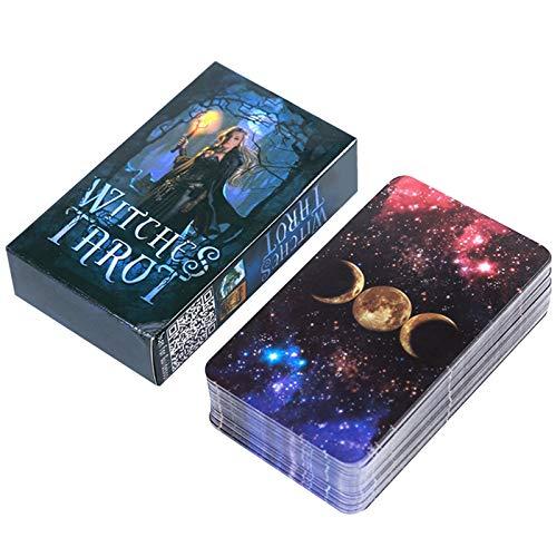 ANUFER 78 Piezas/Conjunto Cartas de Tarot Tablero de Cubierta Decir el Futuro Adivinación Juego Edición en Inglés Brujas SN07408