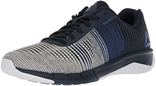 Reebok Men's Fast Flexweave Running Shoe, Acid Blue/Collegiate Navy/White, 11 M US