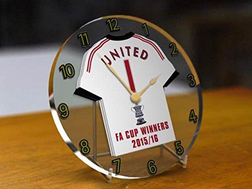 Manchester United Football Club–FA Cup Gewinner 2015/16GEDENKMÜNZE Desktop Uhr.