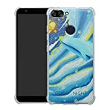 HHDY Asus Zenfone Max Plus (M1) Hülle, Painted Muster Weich Superdünne TPU Silikon Bumper Handyhülle Hülle für Asus Zenfone Max Plus (M1) ZB570TL,Whale