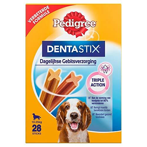 PEDIGREE Hundesnacks Hundeleckerli Dentastix Medium Tägliche Zahnpflege für mittelgroße Hunde 10-25kg, 28 Sticks (1 x 28 Sticks)