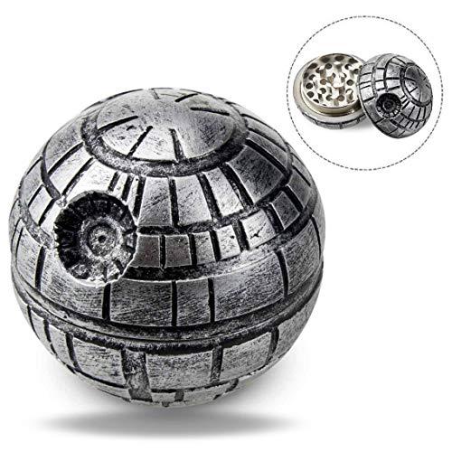Imagen del producto Xrten Grinder Metálico para Hierbas Especias y Tabaco, Diseño de la Estrella de la Muerte