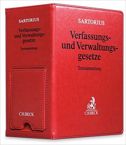 Verfassungs- und Verwaltungsgesetze der Bundesrepublik Deutschland  Premium-Ordner 86 mm in Lederoptik mit integrierter Buchstütze