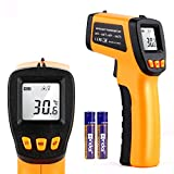 Digital Infrared Thermometer Laser Temperature Measurement Gun Non-Contact Infrared Thermometers Temperature Reader Measurement Range -58°F to 1022°F (-50°C to 550°C)