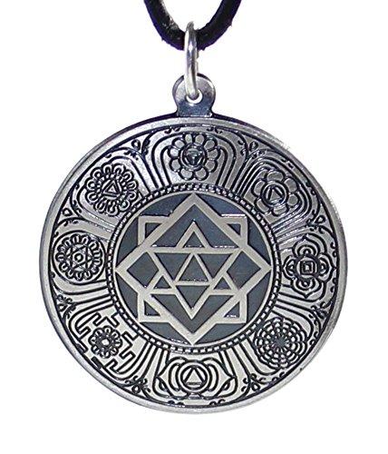 budawi® - Amulett Tantra, 925er Sterling Silber, Talismann & Schutzamulett tantrisches Symbol
