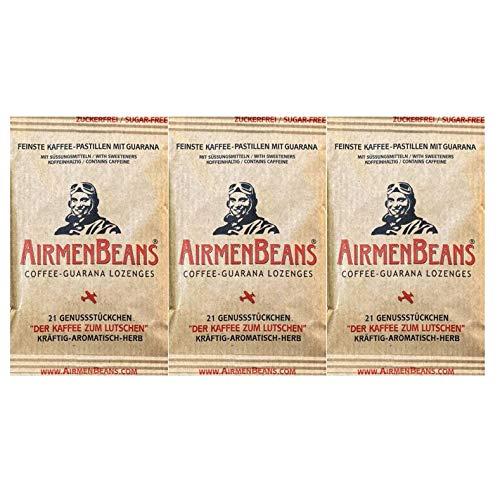 AirmenBeans Airmen Beans Kaffee Pastillen mit Guarana 63 Stück, 3xDE1001