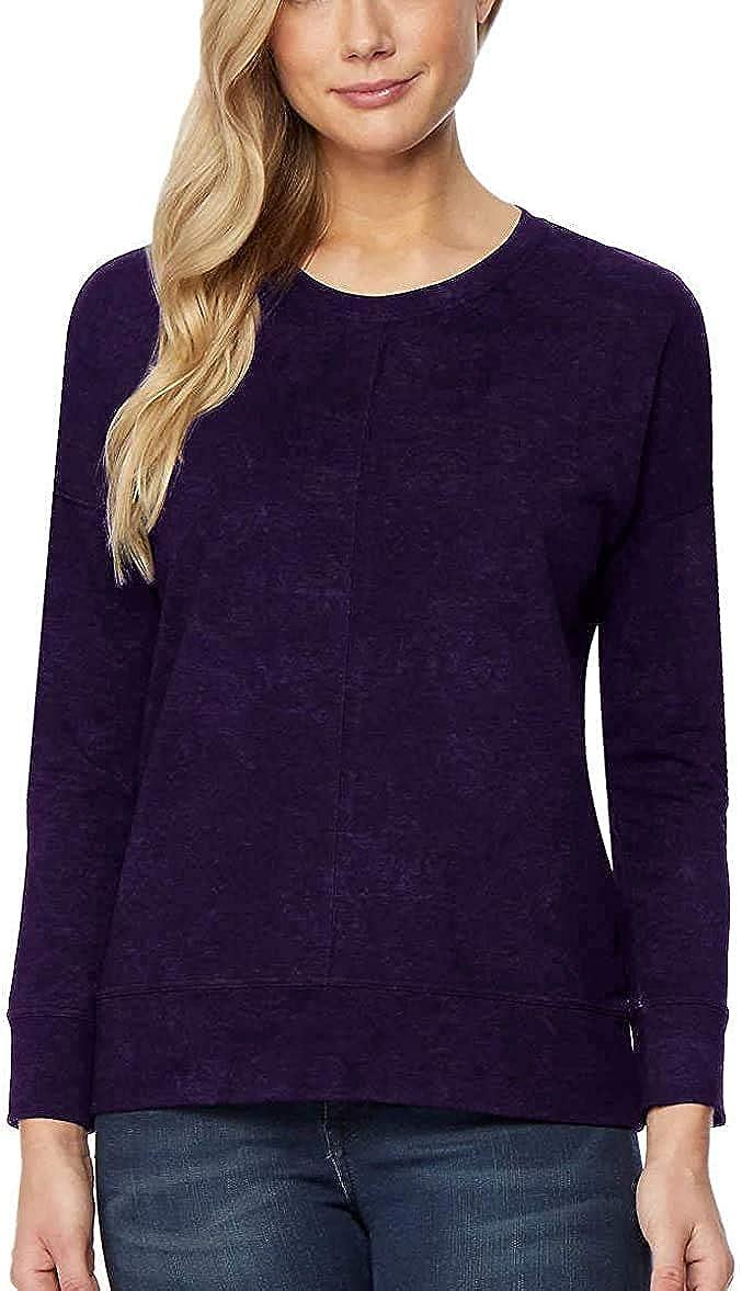 NEW!! 32 DEGREES Ladies/' Crewneck Drop Shoulder Velour Pullover VARIETY!!!