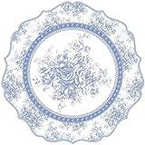 Blanc Mariclo' Set 2 tovagliette in Vinile Blu e Bianco Ø35 cm A30358