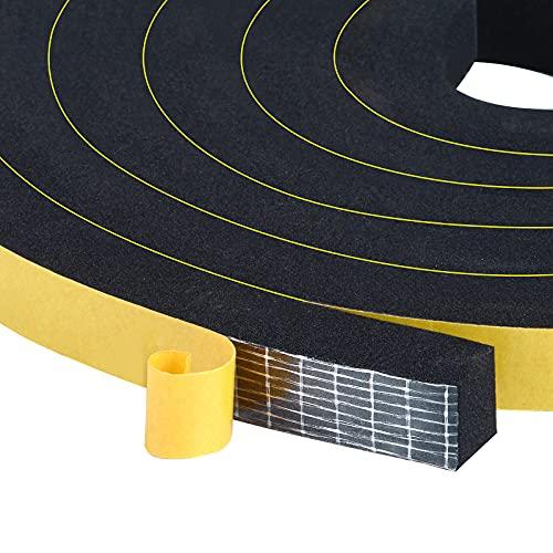 Trisiki Foam Seal Tape, Weather Stripping Door Seal Strip for Doors and Windows, Sliding Door, SoundProof Weatherproof, Weatherstrip,Air Conditioning Seal Strip, 6.5Ft x 2 Rolls, Total 13Ft