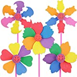 5 Pcs Colorful Sticky Mosaic EVA Windmill Art Kits for Kids...