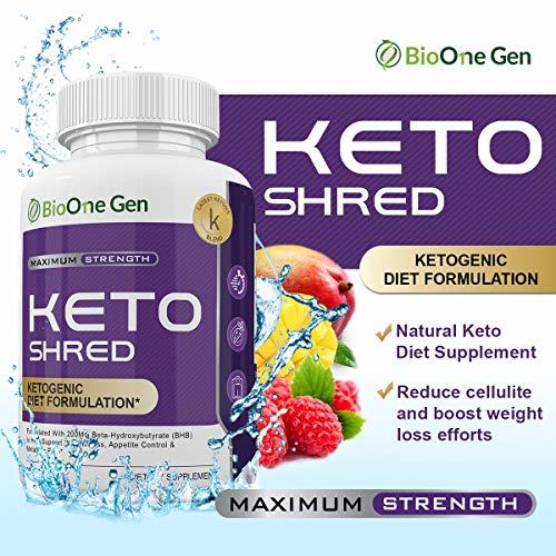 BioOneGen Keto Shred - Burn Fat Fast for Energy Hack - Beta BHB - Gluten Free - 30 Day Supply - 60 Capsules 2