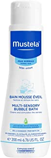 Mustela Multi-Sensory Bubble Bath for Kids, 6.76 oz