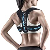 Posture Corrector for Men and Women - Upper Back Brace Straightener Posture Correction for Clavicle Support and Comfortable Posture Trainer, Providing Pain Reduce from Neck, Back and Shoulder(Black)