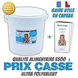 Bicarbonate de soude 10Kg Alimentaire E500'Extra fin' + guide d'utilisation