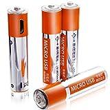 単4電池 充電式 eneBank USB充電式 単四電池 【400mAh】 4本セット