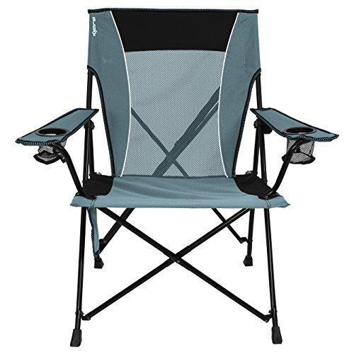 Kijaro - Silla de Camping y Deporte portátil con Doble Cierre, 54022, Hallet Peak Gray
