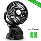 Best Battery Operated Mini Fans - SkyGenius Battery Operated Clip on Mini Desk Fan Review