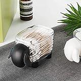 TIANSE Oveja Cajita de almacenaje de para bastoncillos de algodón, Almacenamiento de Cocina, Organizador Maquillaje Organizador Bastoncillos Maquillaje Caja para Algodón Negro