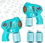 Cheeky Bubbles Maquina Pompas de Jabon, Pomperos para Niños, Pistola Juguete Burbujas para Interior Exterior, Incluye Bote Jabon Pompas, Regalos para Niños (Pack de 2)
