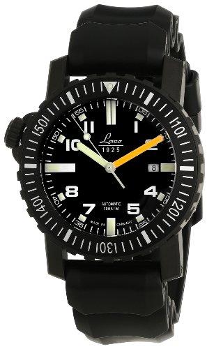 Laco 1925 861703 - Reloj analógico automático para Hombre, Correa de Goma Color Negro