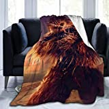 Chewbacca Throw Blanket Super Soft Fleece Sofa Couch Blanket TV Bed Blanket Comfy Cozy Warm Throws for Living Room Bedroom All Season,Black ,50'' x40