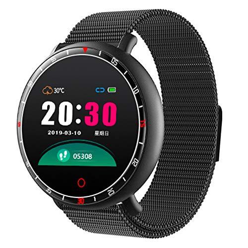 BNMY Smart Watch Für Android Ios-Telefone Smart Watches Mit Herzfrequenz-Step-Sleep-Tracker, App-Nachrichtenerinnerung, Musiksteuerung, IP67 Waterproof Smartwatch,Schwarz